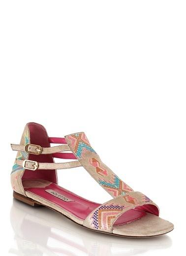 Poletto Sandalet Renkli